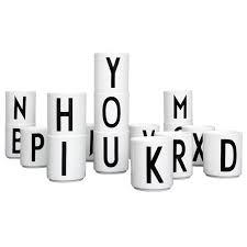 design letter leo bella design letter arne jacobsen alphabet porcelain cups