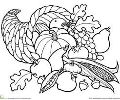 Small Picture Printable Fall Coloring Pages Horn Thanksgiving and Adult coloring