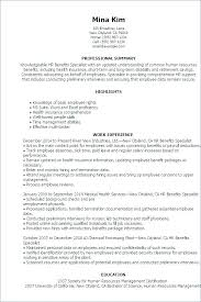 Hris Specialist Resume Templates – Betogether