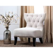abbyson living sedona light cream microsuede nailhead chair chairs living room