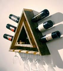 unique wine rack ideas. Triangular Wood Wine Rack To Unique Ideas