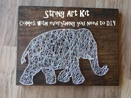 String Art Diy Elephant String Art Kit Diy String Art Kit String Art