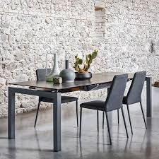 airport table in ceramic lead grey with matt grey base and club chairs