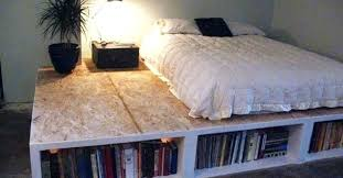 platform bed design ideas bookcase bed frame diy platform bed storage ideas platform bed