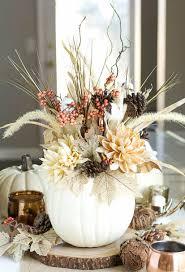 White Pumpkin Vases For Fall Table