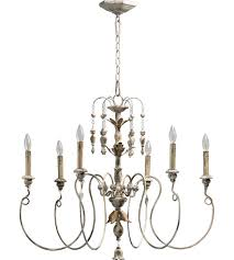 quorum 6006 6 70 nto 6 light 32 inch persian white chandelier ceiling light