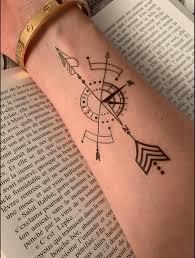 Geometric Compass Temporary Tattoo