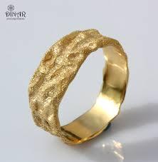 golden wedding bands. rustic gold wedding band, 18k solid men 14k thick wide organic golden bands