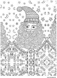 Coloriage Pere Noel Adulte Anti Stress Dessin