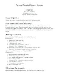 Resume Objective For Personal Assistant Best of How To Write A Personal Summary For Resume What In Profile Say