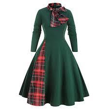 Buy Outtop(TM) <b>Vintage</b> Ladies Bow <b>Striped</b> Long Sleeve <b>Dress</b> ...