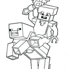 Cheerful Minecraft Steve Coloring Pages Page 6 Mapiraj Free