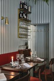 Corrugated Metal Interior Design Joanna Laajisto Lines Helsinki Restaurant Walls With Corrugated