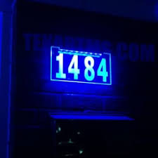 photo of led signs montreal laval qc canada custom edgelit led address sign s26