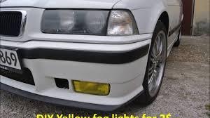 E36 Fog Light Lens Diy Efective And Quality Yellow Fog Lights For 2