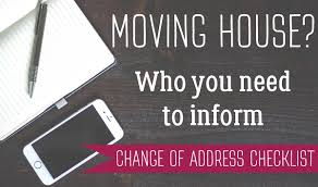 Change Of Address Who To Notify Moving House Who To Inform