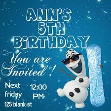 Frozen Birthday Invitations Frozen Birthday Invitation Card
