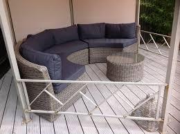 deco garden furniture. Half Moon Round Rattan Outdoor Furniture Sofa Natural DECO Outdoor Rattan  Garden Sofa Deco Furniture U