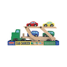 wooden car carrier set melissa and doug