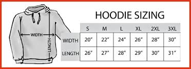 Pullover Size Chart Hoodie Sizing Girls Clothing Stores
