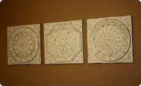 metal ceiling tile wall art