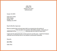 formal letter of resignation examples formal letter of resignation examples formal resignation letter example pdf free