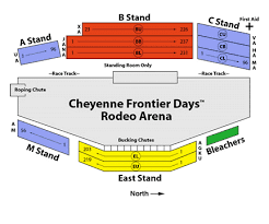 Frontier Park Seating Chart Cheyenne Frontier Days Seating Related Keywords