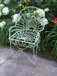 retro metal outdoor chair tulip vintage