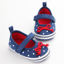 2018 Newborn Baby Girl Shoes Spring Autumn Dots Red Butterfly Cotton ...