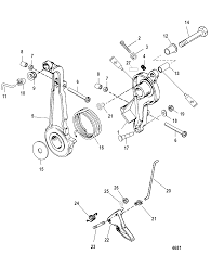 Throttle lever and linkage for mariner mercury 75 90 h p 65 jet 3 cylinder