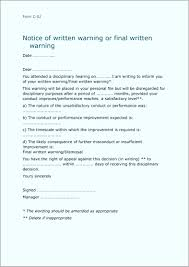 Sample Final Warning Letter Luxury Poor Performance Out E Letter ...