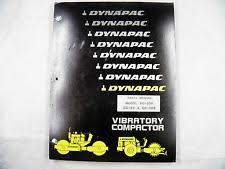 heavy equipment manuals books for compactor and dynapac dynapac cc50 50a 50s vibratory compactor parts manual