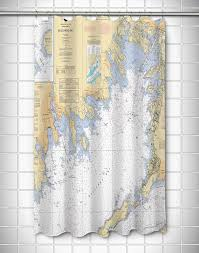 Nautical Chart Buzzards Bay Ma Ma Buzzards Bay Ma Nautical Chart Shower Curtain Island