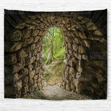 <b>Tunnel Entrance</b> 3D <b>Printing</b> Home <b>Wall</b> Hanging Tapestry for ...