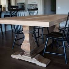 pecan trestle dining table
