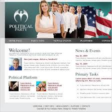 Political Website Templates Political Party Template Free Website Templates In Css Html