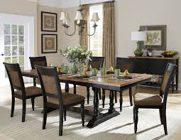 Two Piece Living Room Set Homelegance Grisoni 7 Piece Trestle Dining Room Set In Two Tone