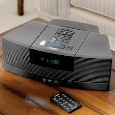bose wave. the bose wave clock radio/cd player with pedestal - hammacher schlemmer