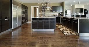Warm Kitchen Flooring Options Large Warm Nuance Modern Flooring For Contemporary Home That Has