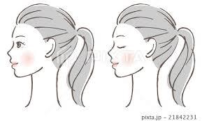 女性 横顔のイラスト素材 21842231 Pixta