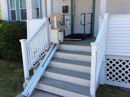 wheelchair ramp from amramp for the homeowner had not been outside for over a year she called us for a
