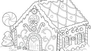 Coloring Page House Gingerbread Coloring Page House Pages Printable