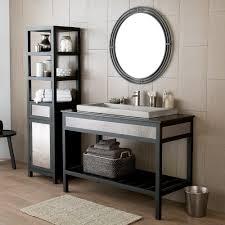 wrought iron bathroom shelf. Asana 31-Inch Round Wrought-Iron Mirror Wrought Iron Bathroom Shelf Z