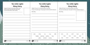 ten little lights diary diffeiated writing frames l originals fiction christmas winter