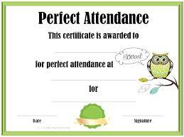 Attendance Award Template Perfect Attendance Award Printable School Awards Free