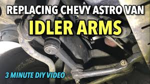 Replacing Chevy Astro Van RWD Idler Arms - 3 MINUTE DIY Video ...