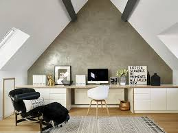 Image Shiplap View In Gallery An Unassuming Accent Wall Idea For The White Home Office design Leivars Decoist 20 Ways To Decorate Home Office In White
