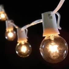 globe string lights clear bulbs