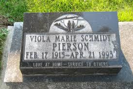 Viola Marie Schmidt Pierson (1915-1993) - Find A Grave Memorial