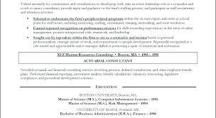 Management Consulting Resume Examples Actuarial Consultant Resume